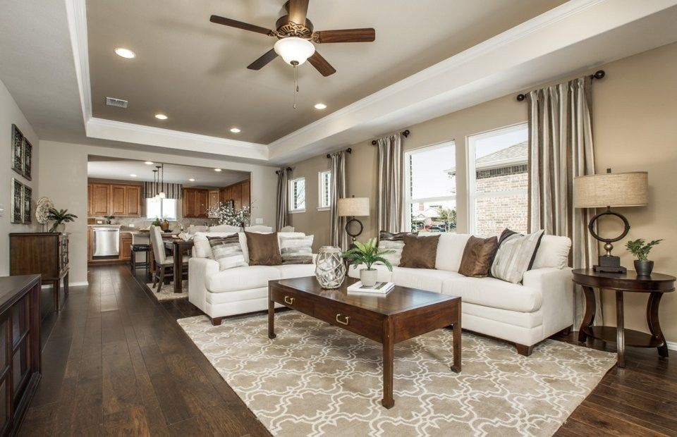 This Gathering Room and kitchen create an ideal space to entertain – Del Webb Taft Street Floor Plan