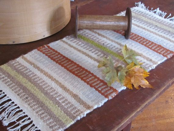 Rustic Orange Pumpkin Harvest Table Runner By Aclhandweaver