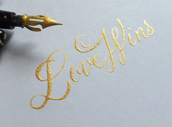 Lettering By Colin Tierneymedium Used Speedball Oblique