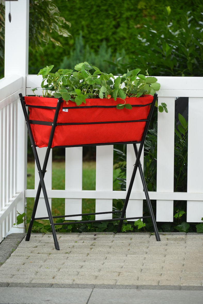 Vegtrug Poppy Deluxe Folding Raised Garden Planter Qvc Com With
