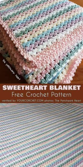 Sweetheart (Baby) Blanket Free Crochet Pattern images