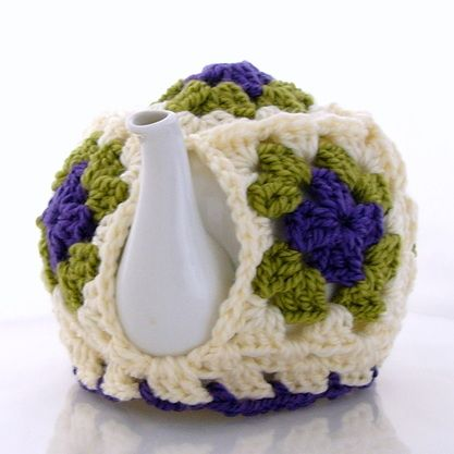 Warm And Woolly Free Tea Cozy Crochet Pattern Granny Squares Freebie