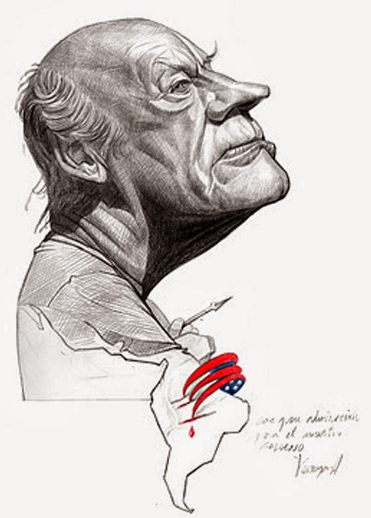 Eduardo Galeano Male Sketch Caricature Portrait Gallery
