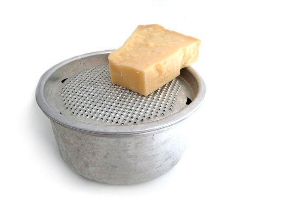 Vintage Italian Rustic Aluminum Cheese Grater By Madlyvintage 30 00 Vintage Cookware Cheese Grater Vintage Italian