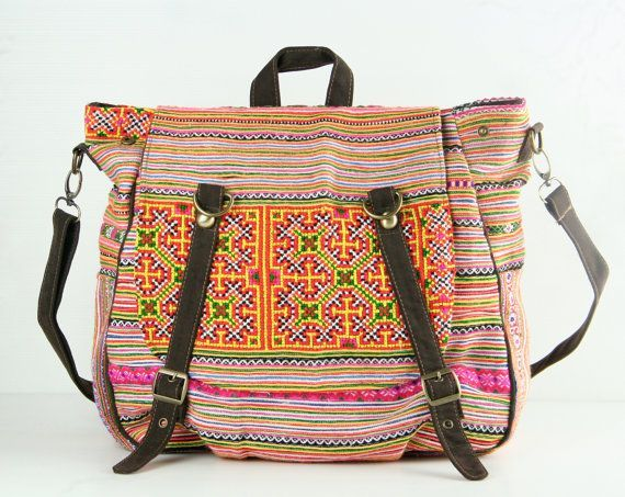 Tribal Messenger Diaper Bag Backpack Ethnic Shoulder By Tatonyon 40 00