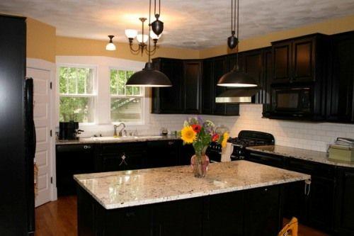 Hochwertig Dark Kitchen Cabinets