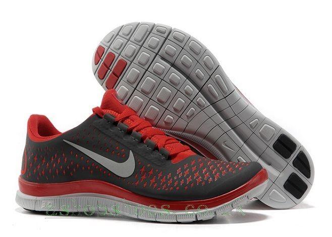 Fpqyr8 UK Sale Nike Free 3.0 V4 Men's Running Shoe Dark Grey/Red/White