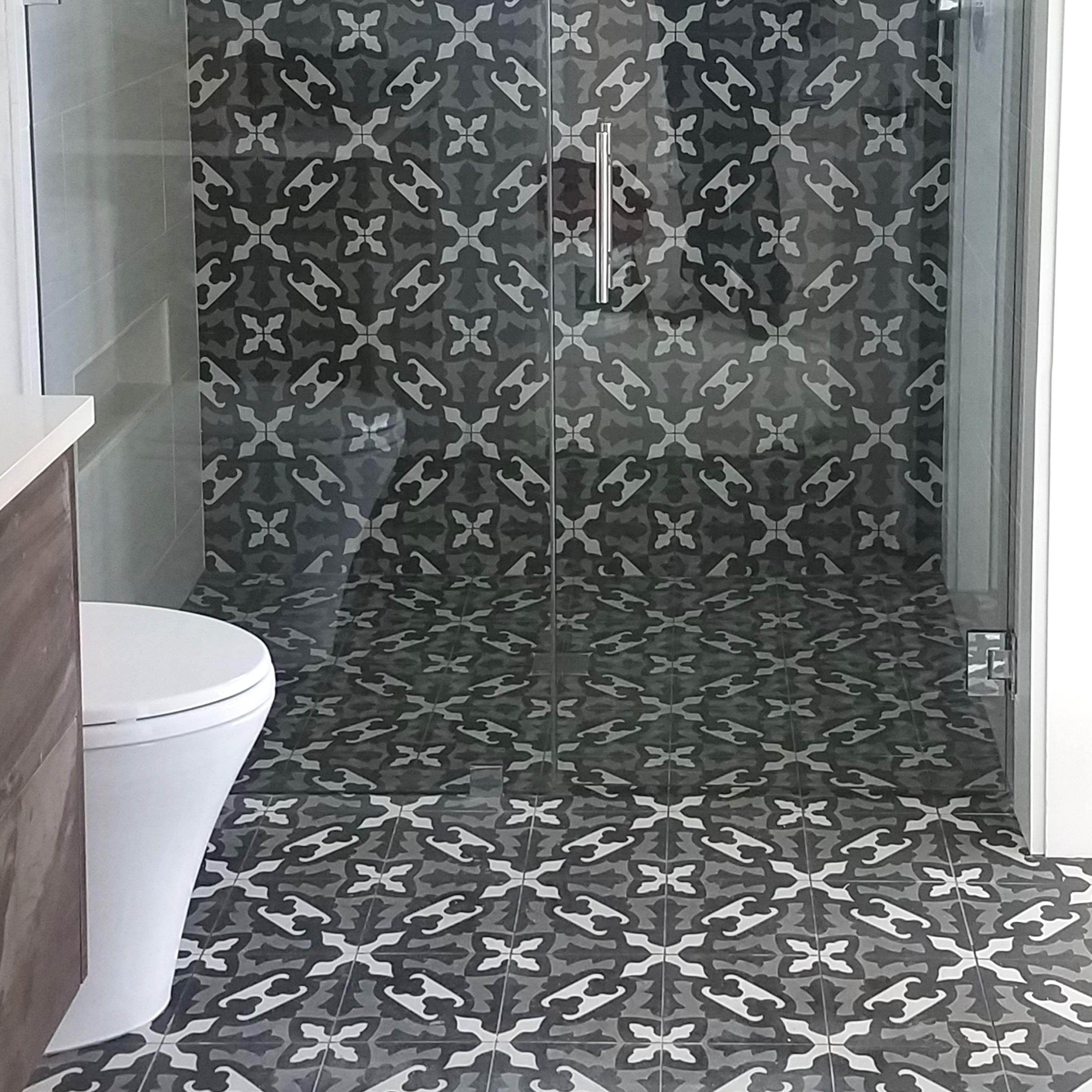 Farfalla Honed Cement Tiles 8x8 Country Floors Of America Llc Bathroom Floor Tiles Cement Tiles Bathroom Cement Tile