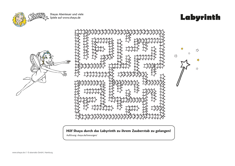Rätsel: Kniffliges Labyrinth für Kinder. Hilf Shaya den Ausgang zu ...