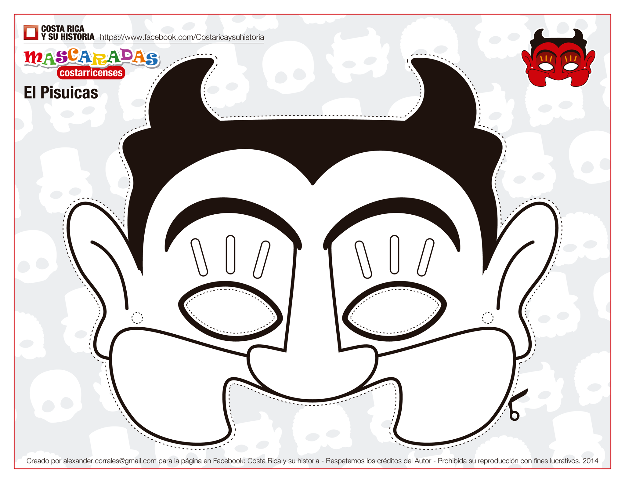 antifaz demonio para colorear - Buscar con Google | sant antoni ...
