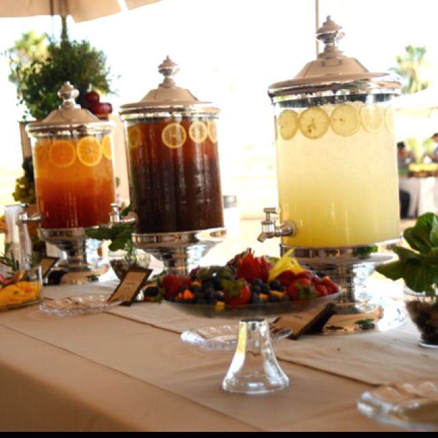 Old fashion self serve drink table | Tea Party Food/Receipes | Pinter ...