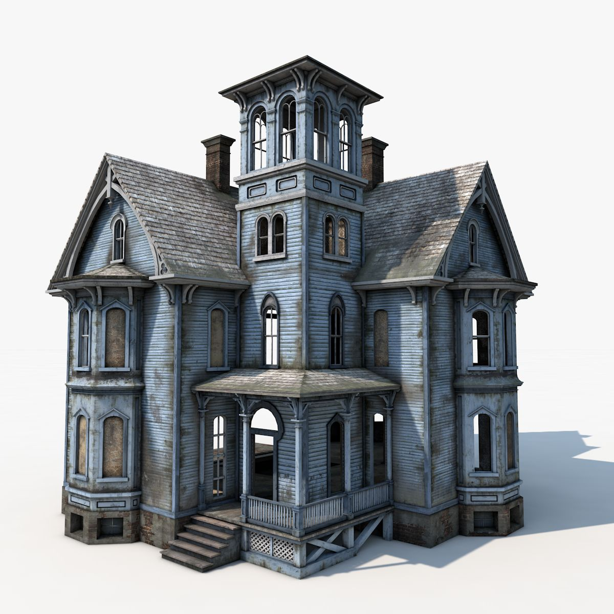 3d model old haunted house in 2020
