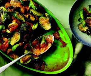 Spicy Roasted Brussels Sprouts Recipe by Eva's Kitchen Cookbook - The Daily Meal