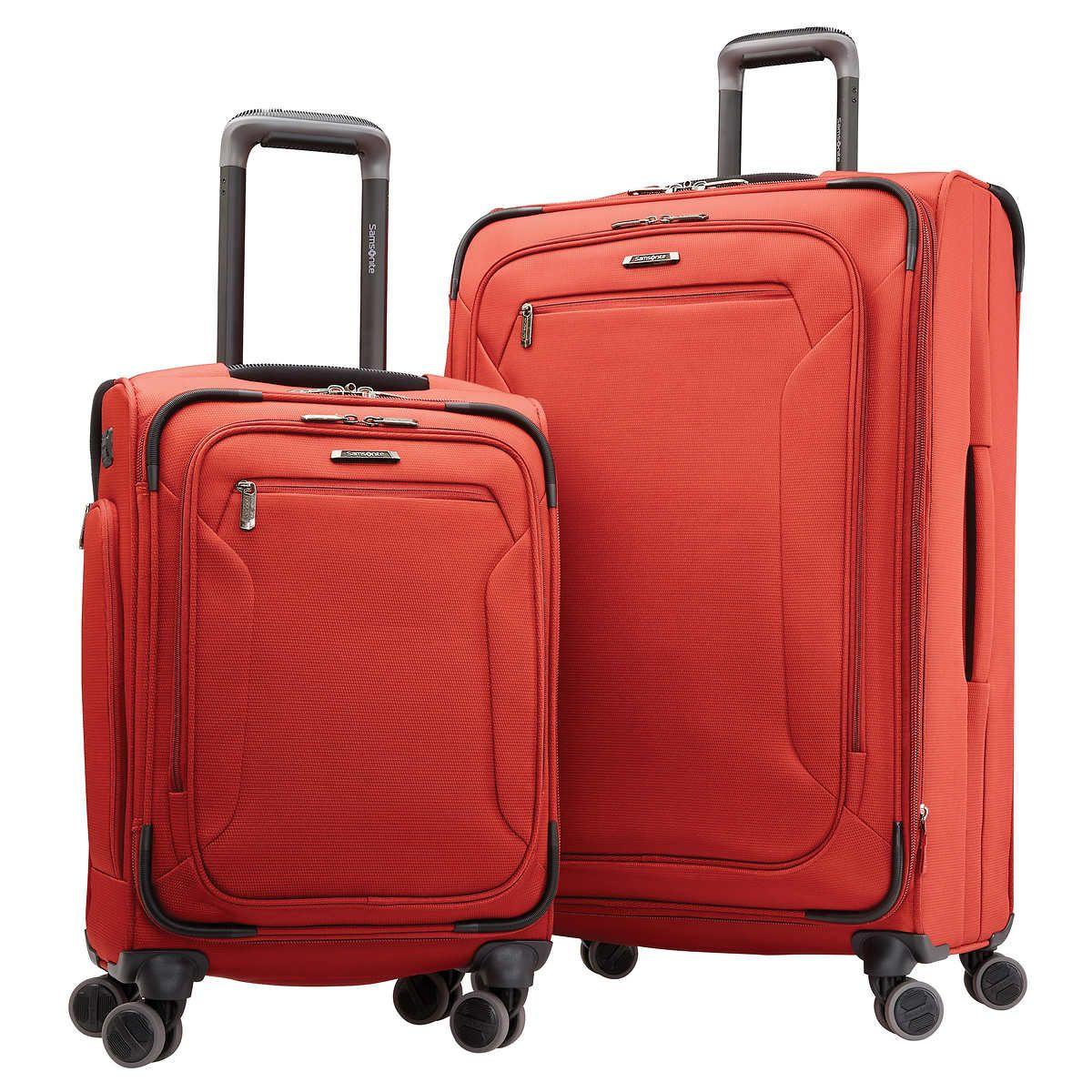 Samsonite Explore Eco 2 Piece Softside Suitcase Set in Black