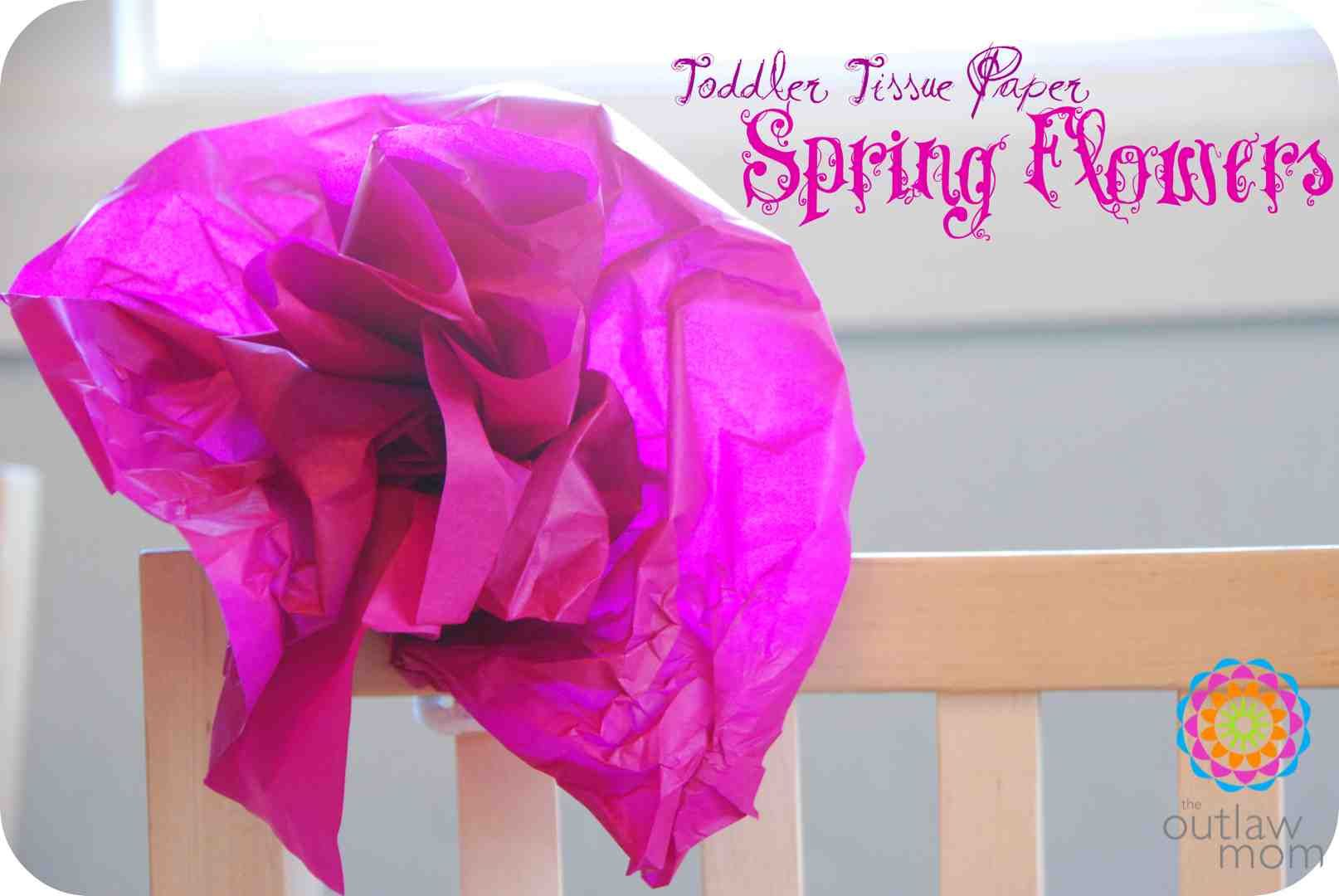 {Play} Toddler Tissue Paper Spring Flowers