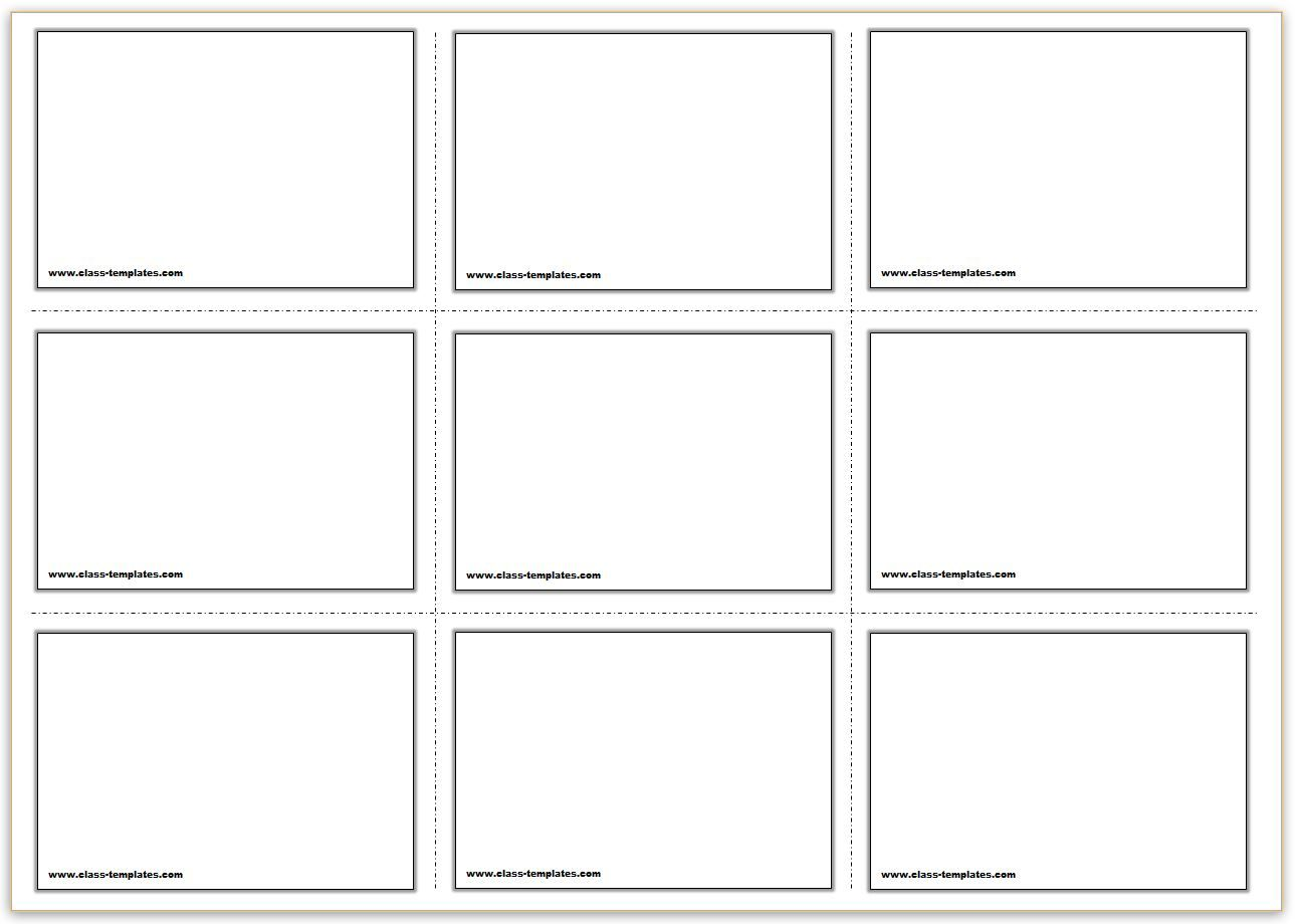 Free Printable Flash Cards Template Within Blank Index Card