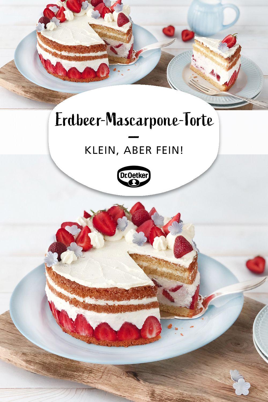 Kleine Erdbeer Mascarpone Torte Rezept Erdbeer Mascarpone Torte Kuchen Und Torten Torten