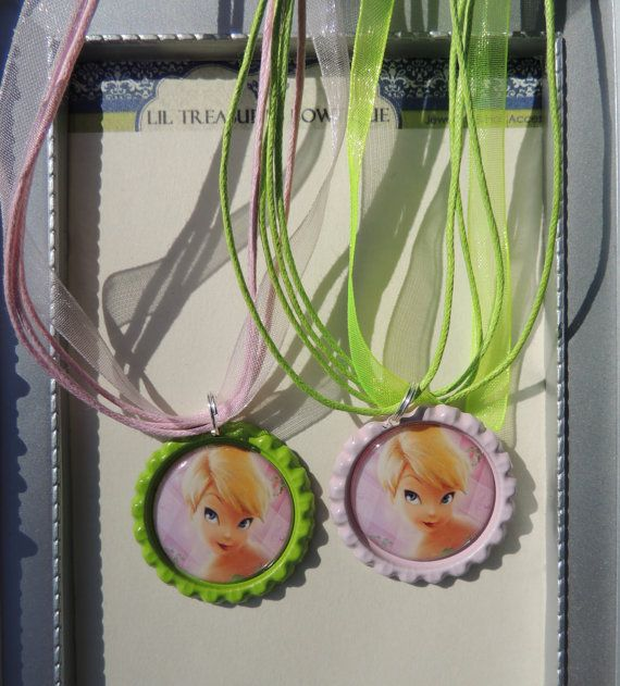 Six Tinkerbell Party Pack Ribbon Bottlecap by LilTreasuresBowtique, $12.00
