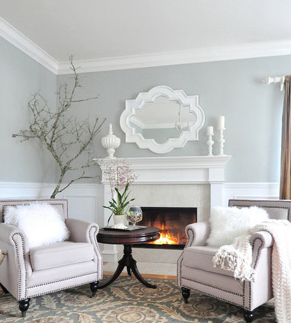 Houzz Living Room Paint Wall Decorations Ideas For Gray Photo From Ben Moore Horse 2140 50 Colors