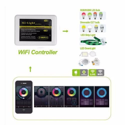 Dimmable Mi Light Wireless Wifi LED RF Remote Controller APP iOS