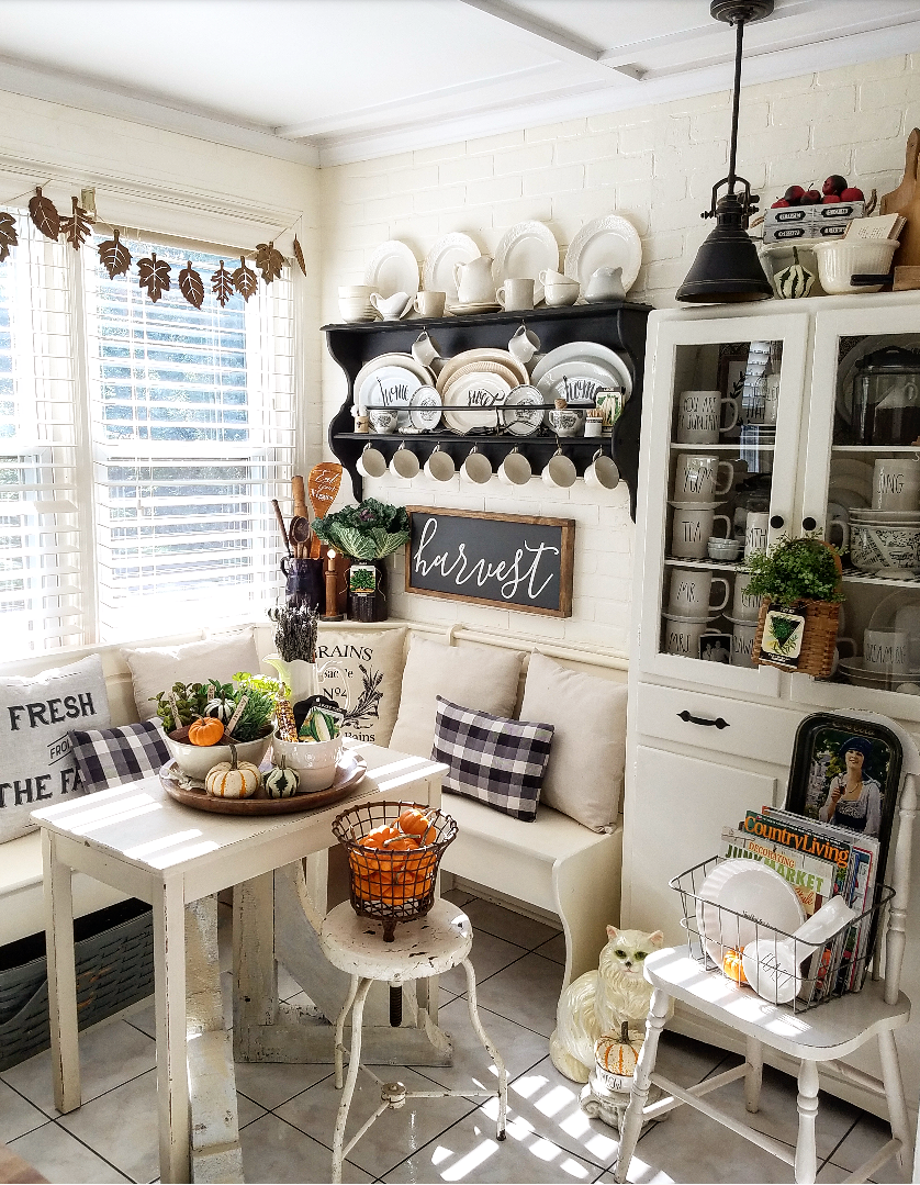 Photo of Beautiful Fall Home Tour Harvest Home Blop | Ideas for vintage fall decor home tour