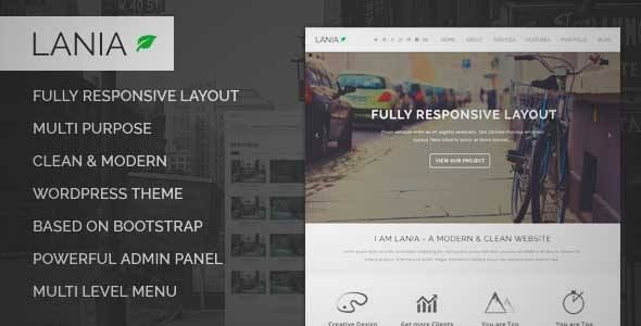 Download And Review Of Lania  Multipurpose Wordpress Theme One