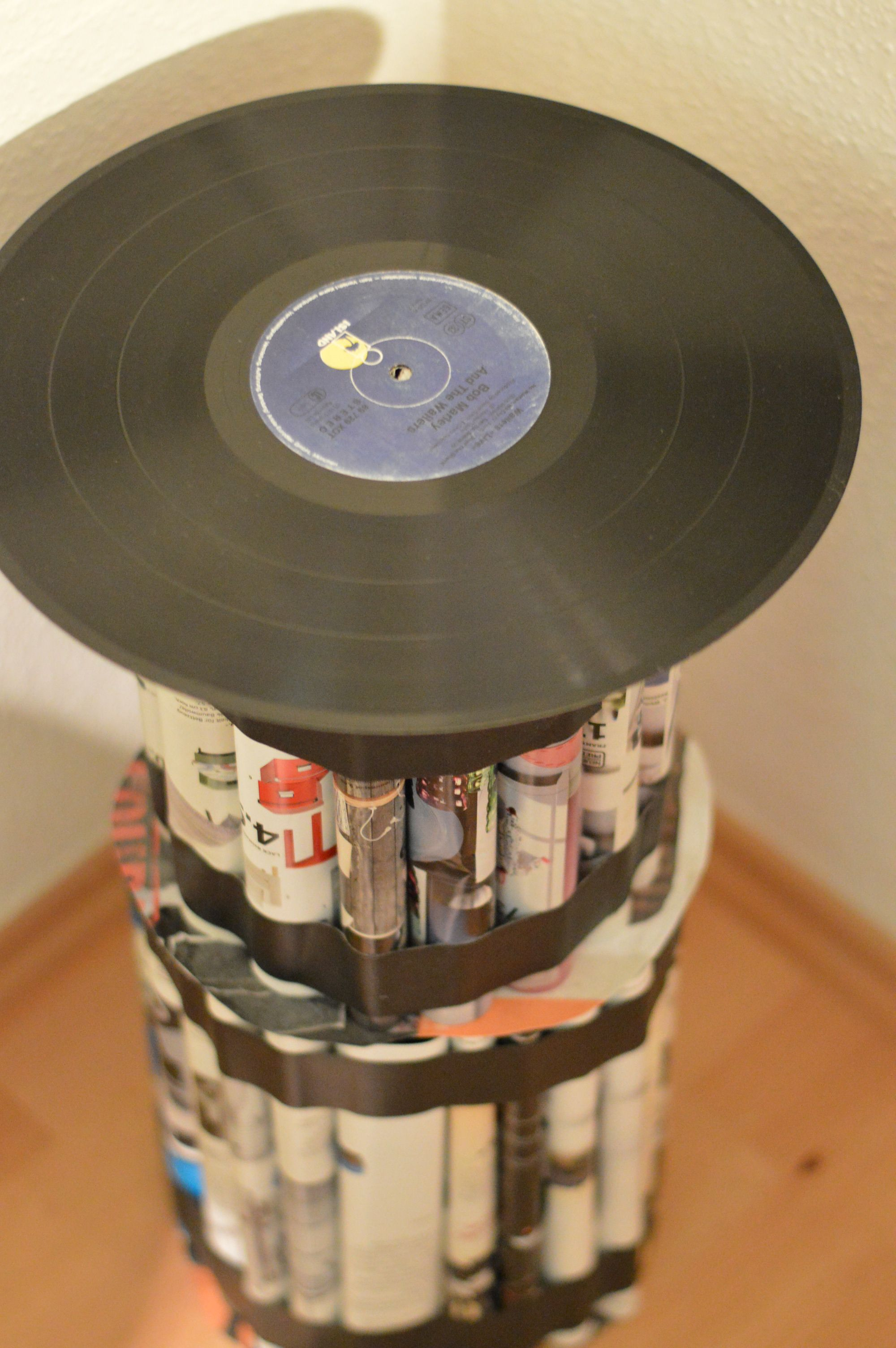 Upcycling Table Tisch Magazine Record Schallplatte | DIY | Pinterest ...