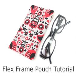 This easy tutorial is all about showing you the little tips that will give you a really well finished flex frame pouch.