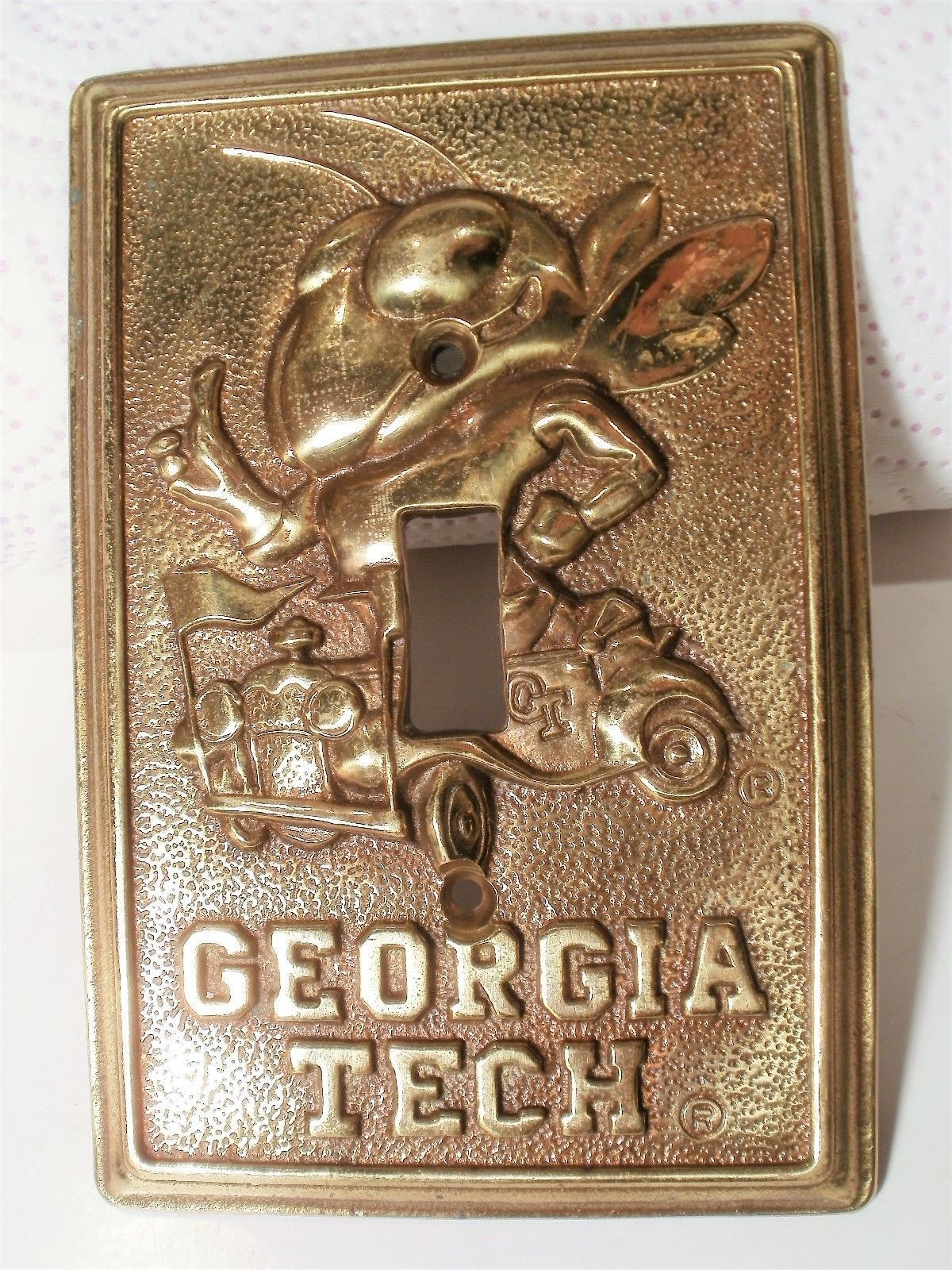 Brass Light Switch Covers Extraordinary Antique Vintage Rare Brass Light Switch Plate With Georgia Tech Decorating Design