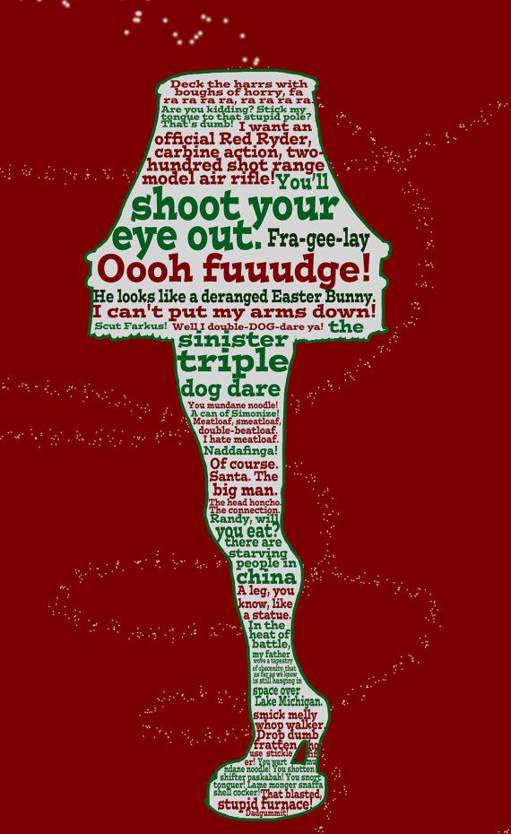 A Christmas Story funny quote poster 12x18 by studiomarshallarts ...