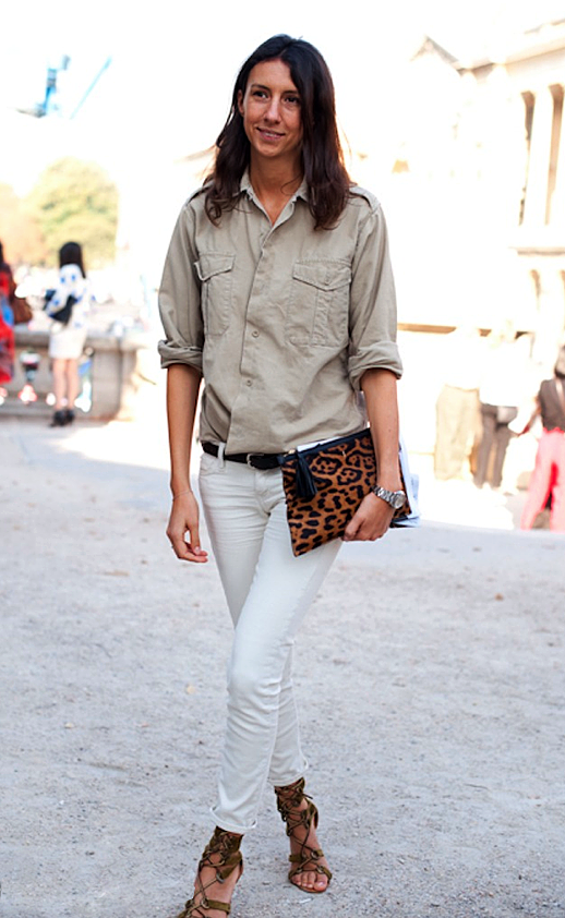 Geraldine Saglio In Effortless Whites Neutrals One Of My Favorite Combos For Spring Summer