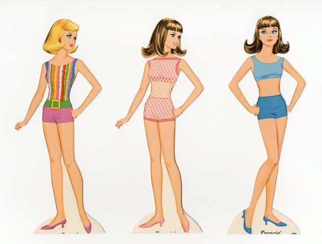 90.1279: Francie and Casey | paper doll set | Paper Dolls | Dolls | Online Collections | The Strong
