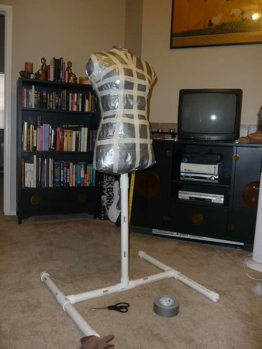 Duct tape dress form