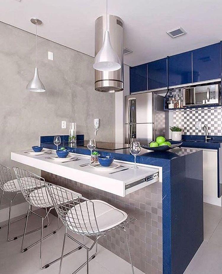 Cocina Barra Extensible Desayunador Fotos De Cocinas Modernas Decoracion De Cocina Moderna Decoracion De Cocina