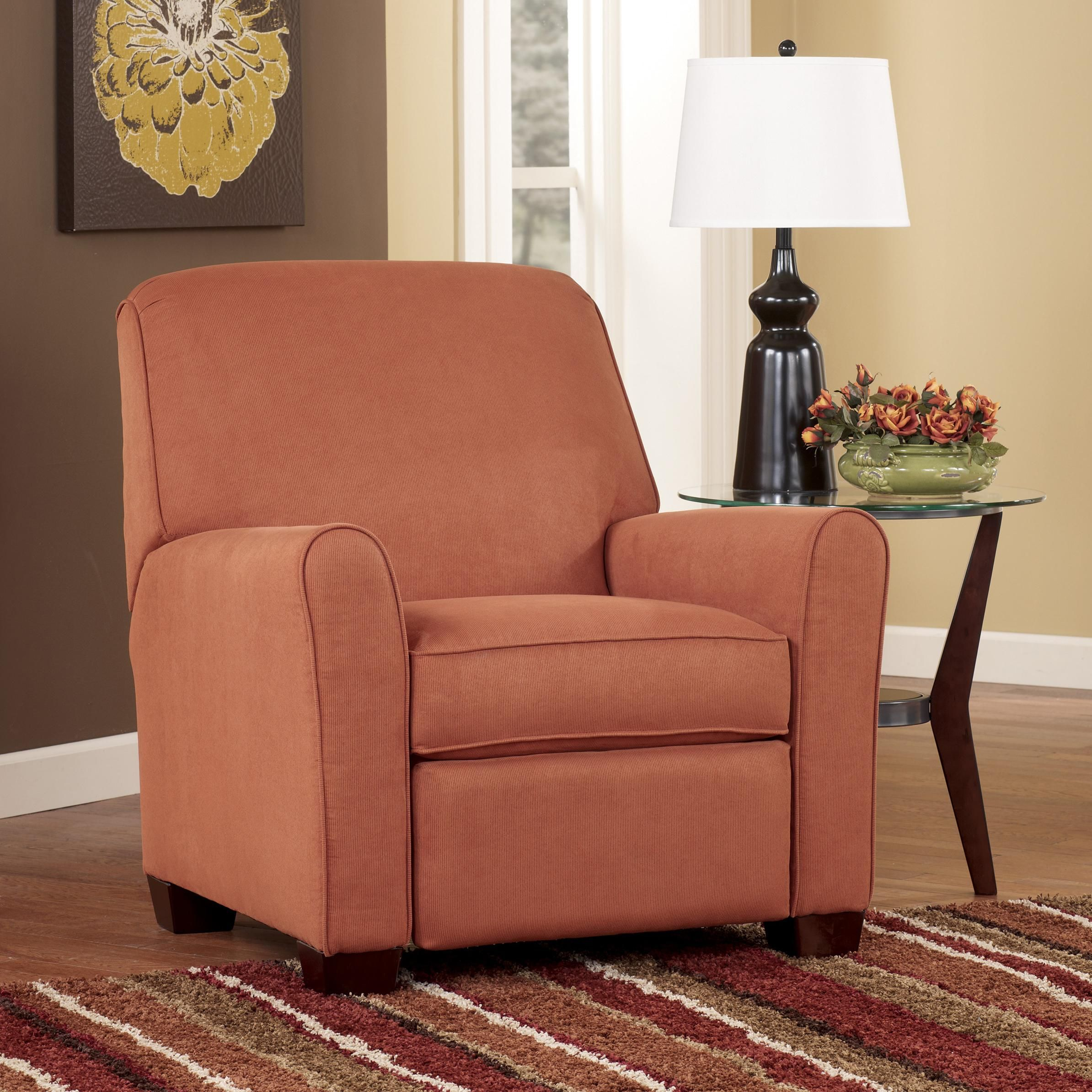 Gale Russet Low Leg Recliner by Signature Design by Ashley