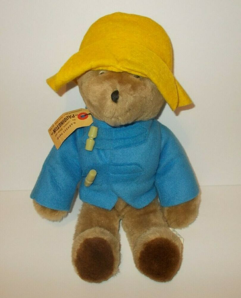 Vintage Paddington Bear Stuffed Plush 1975 Eden Toys