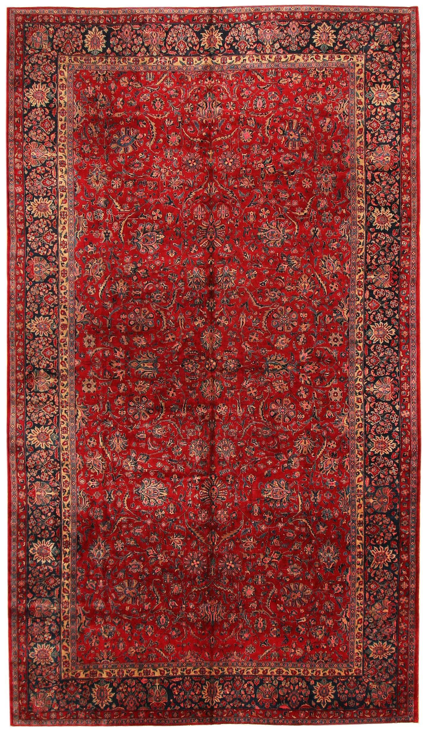 Antique Kashan Persian Rug 43573 Rugs Red