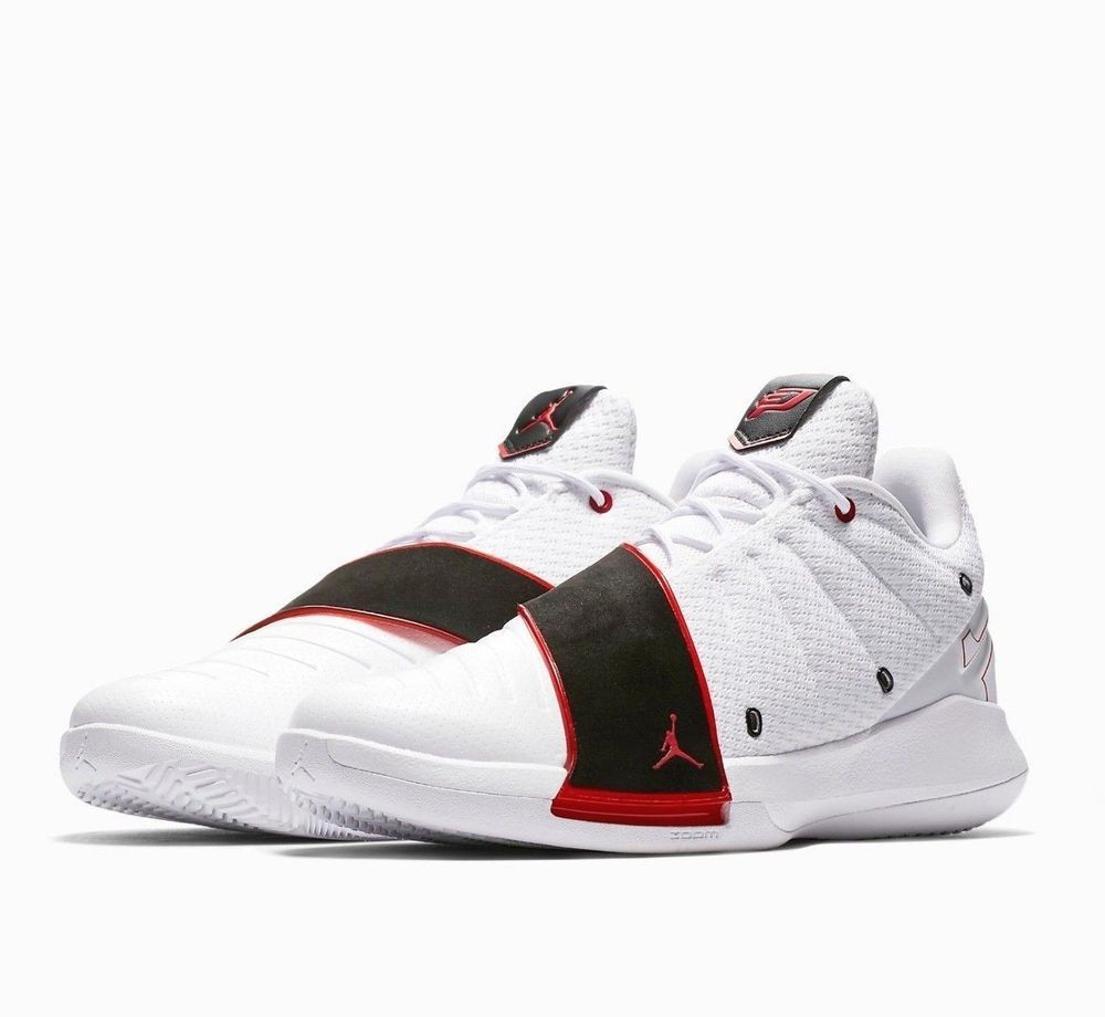 7df14fb2f40 Jordan CP3.XI Mens Basketball Shoes 12 White Red Black  Jordan   BasketballShoes