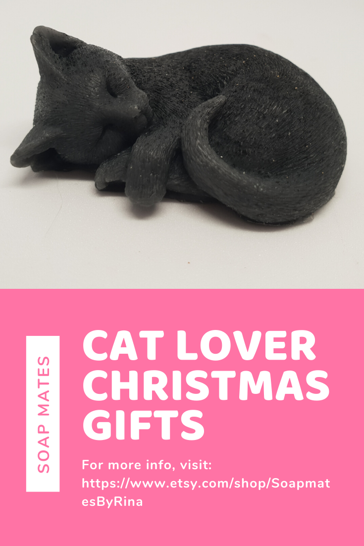 Cat Lover Christmas Gifts | Christmas Gift Uncle | Melt and Pour Design | Handmade Soap Business