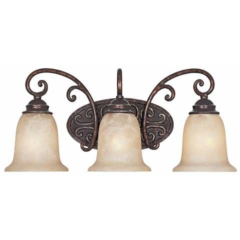 Amherst Collection Burnt Umber 22 Wide Bathroom Wall Light