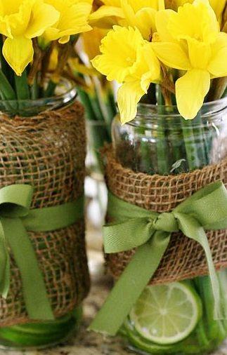 Vintage Wedding Centerpieces | ... wedding ideas - Daffodil wedding | Budget Brides Guide : A Wedding