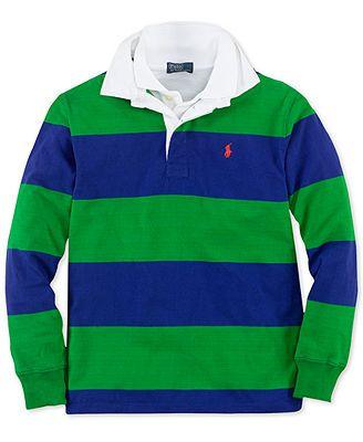 Ralph Lauren Kids Shirt, Boys Long-Sleeve Striped Rugby