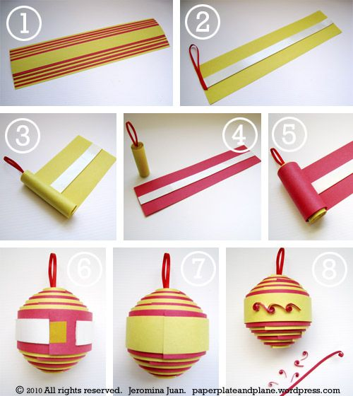 rolled paper ornaments process