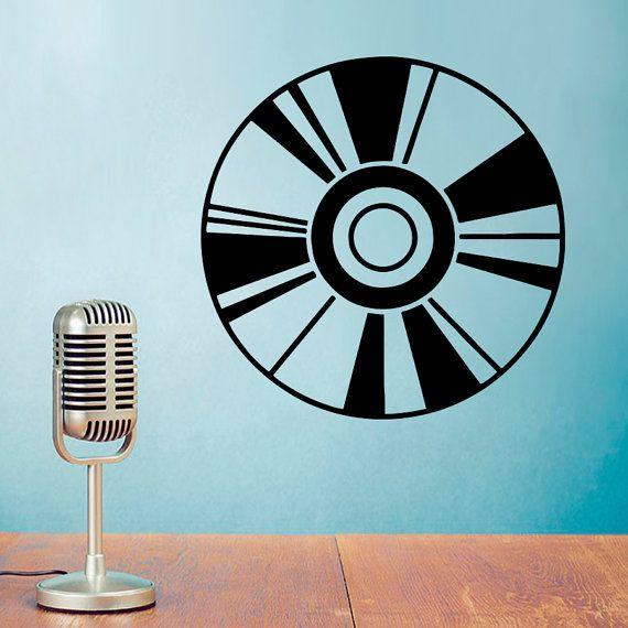 Wall Decal Vinyl Record Music Studio Design Music Clubs