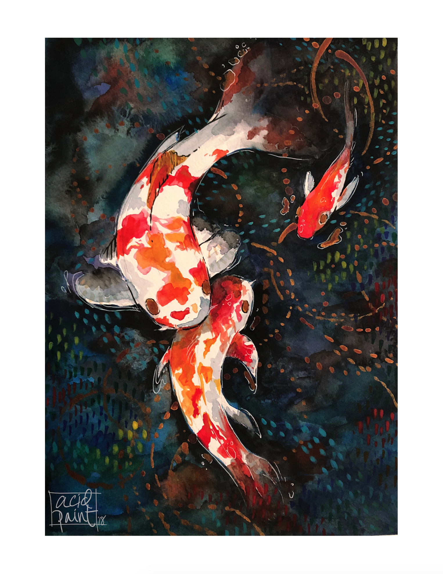 koifish in my dreams 8x11 watercolor | Art | Pinterest | Watercolor ...