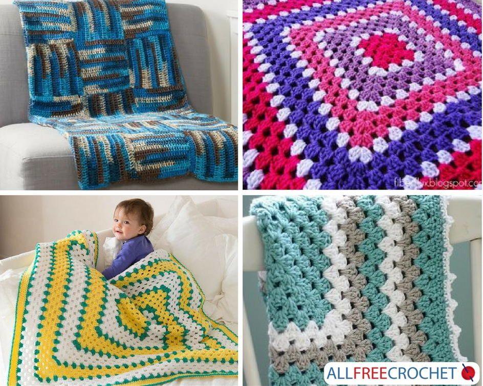 25 Crochet Granny Square Afghans | Mantas para bebés, Para bebés y Manta