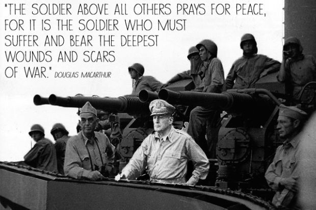 General Douglas MacArthur General Douglas MacArthur led the American