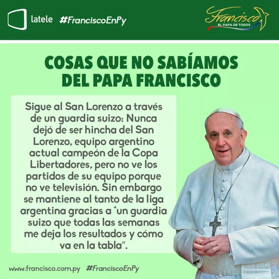 Cosas que no sabías del Papa Francisco