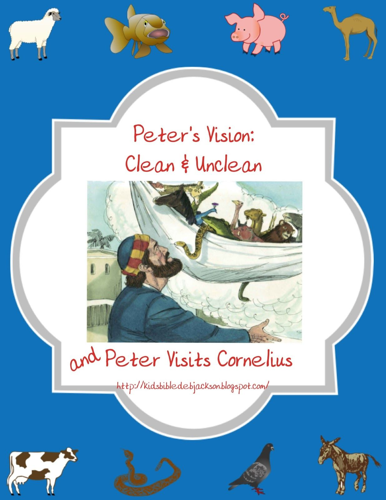 Bible Fun For Kids Cornelius And Peter S Vision