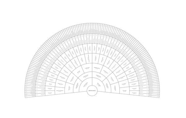 Starting from this Classic White Fan template, use our family tree
